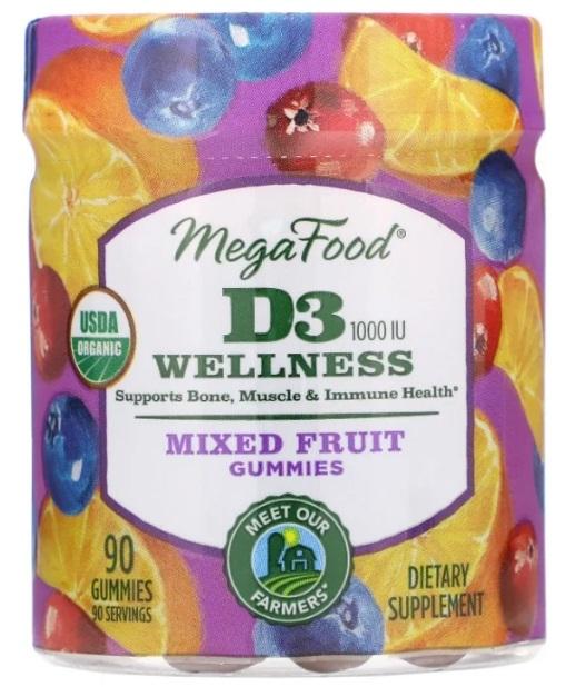 MegaFood, D3 Wellness, Mixed Fruit