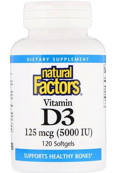 Natural Factors Витамин D3 5000 МЕ