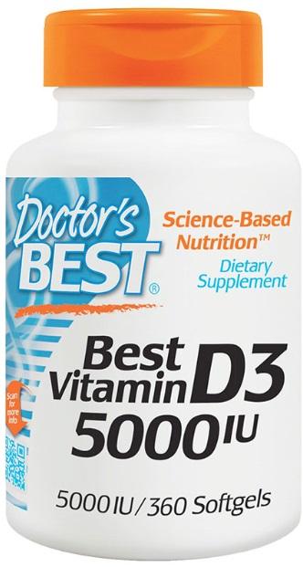 Doctor's Best Vitamin D-3 5000 МЕ