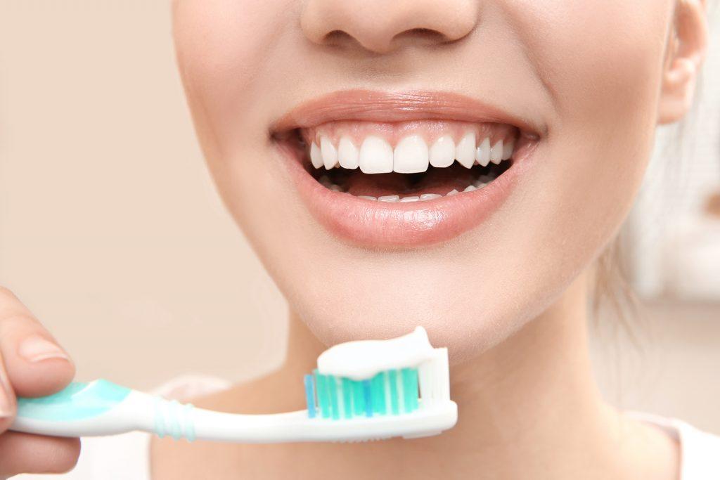 девушка, зубная щетка, улыбка