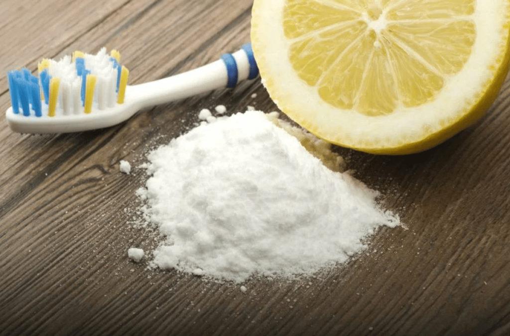 зубная щетка, сода, лимон