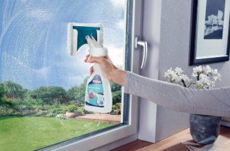 средство для мытья окон, окно