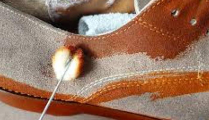 окрашивание замшевых кроссовок