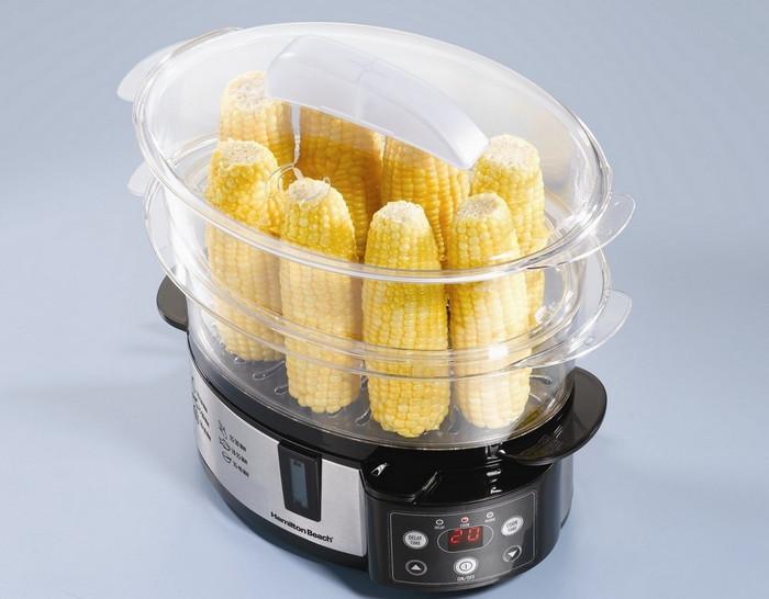 кукуруза, приготовленная в пароварке
