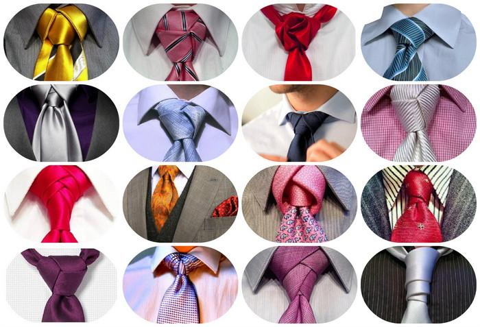 узлы галстука фото