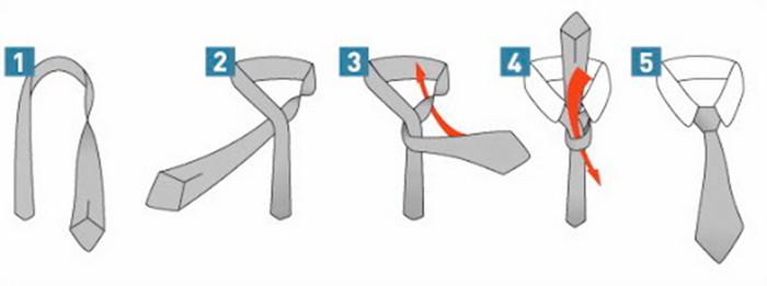 как завязать галстук способ кент