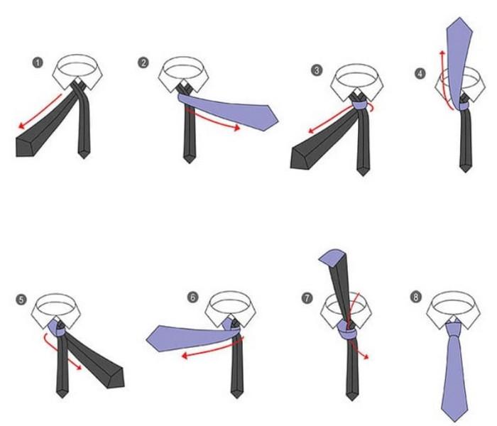 схема завязывания галстука святой андрей