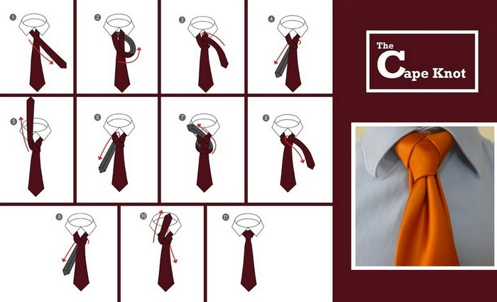 как модно завязать галстук