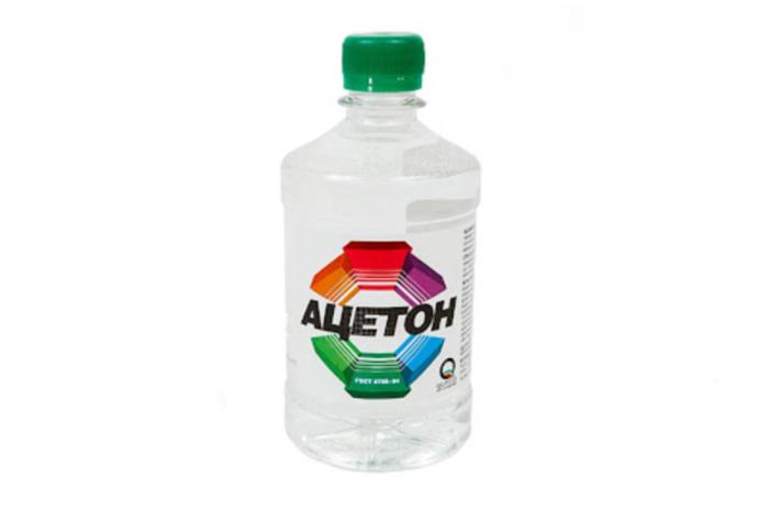 ацетон помогает в уходе