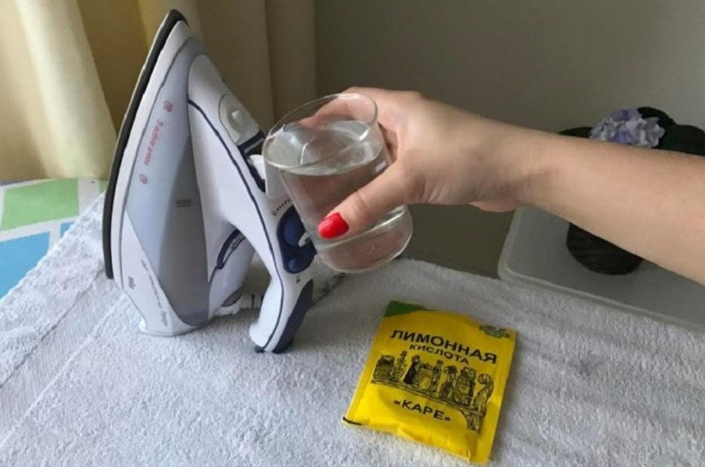 чистка при помощи лимонной кислоты