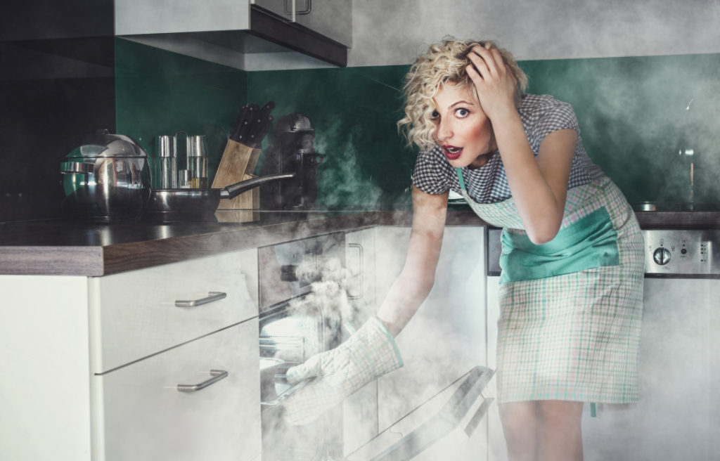 дым и гарь при готовке