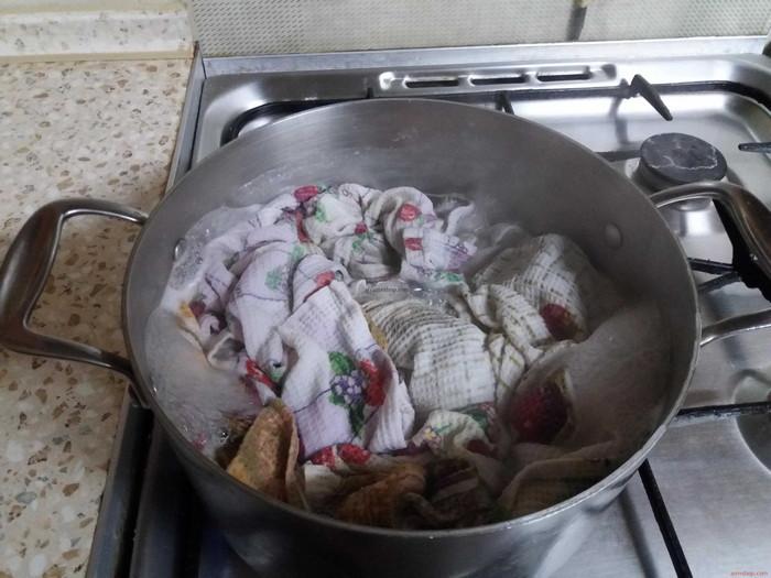 кипячение кухонных полотенец