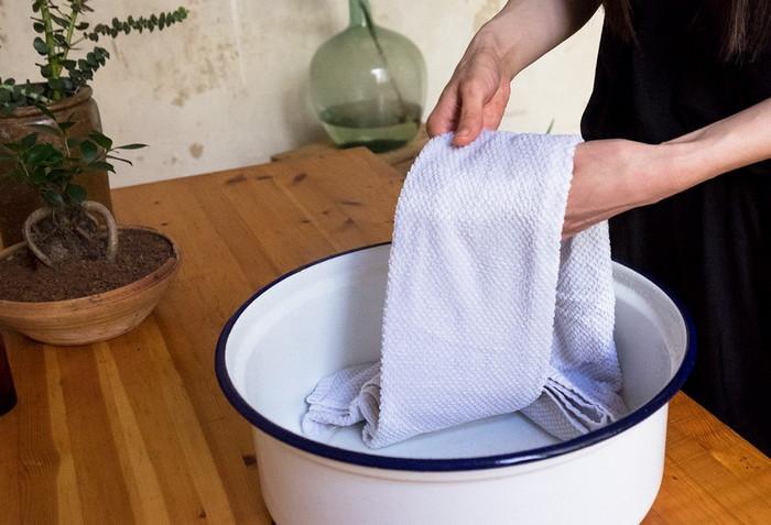 подготовка полотенец к стирке